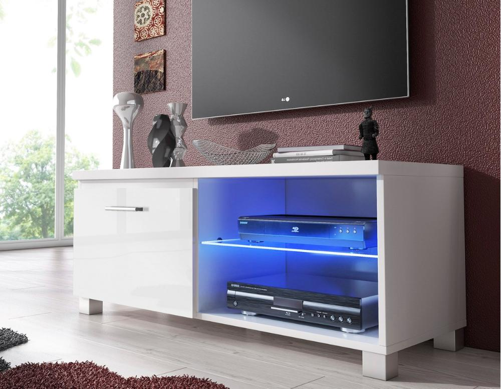 Mueble TV 100 Led blanco