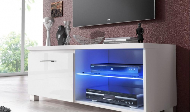 Mueble TV 100 Led blanco | Muebles TV