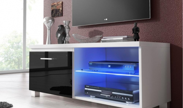 Mueble TV 100 Led Negro