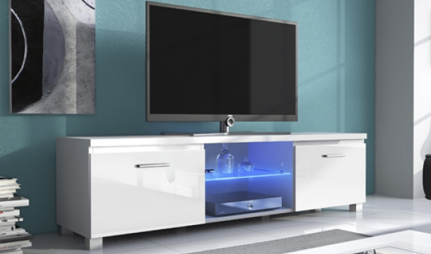 Mueble TV 150 led blanco | Muebles TV