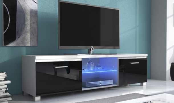 Mueble TV 150 led Negro